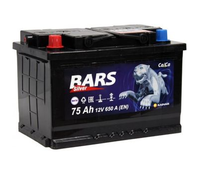 Купить в Ульяновске аккумулятор 6СТ-75 Bars Silver за 0 рублей