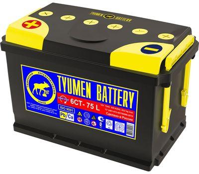 Купить в Ульяновске аккумулятор 6СТ-75L ПП Tyumen Battery STANDARD за 4300 рублей