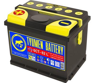 Купить в Ульяновске аккумулятор 6СТ-62L ПП Tyumen Battery Standard за 3550 рублей